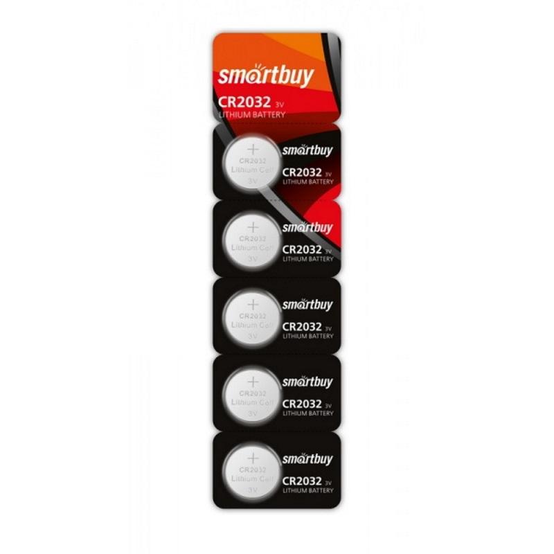 SMARTBUY Батарейки литиевые CR2032 SmartBuy 5 шт