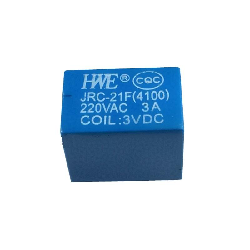 Реле HWE JRC-21F (4100) 3V электромеханическое 3В/220В