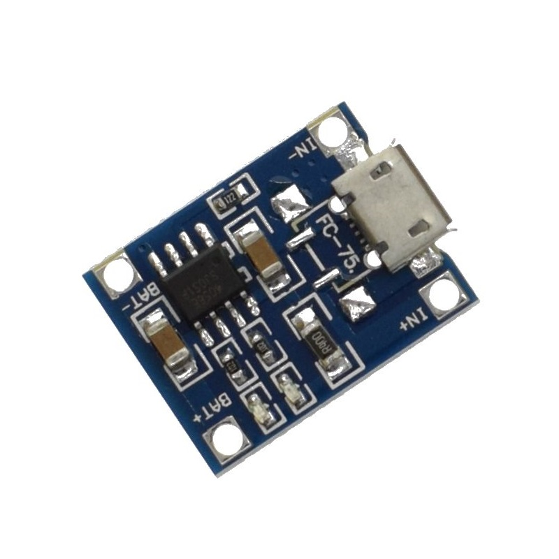 TZT TP4056 модуль заряда аккумуляторов 18650 с MicroUSB TZT