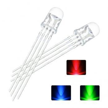 TZT Светодиод 5мм RGB Common Anode (набор 10 штук) TZT