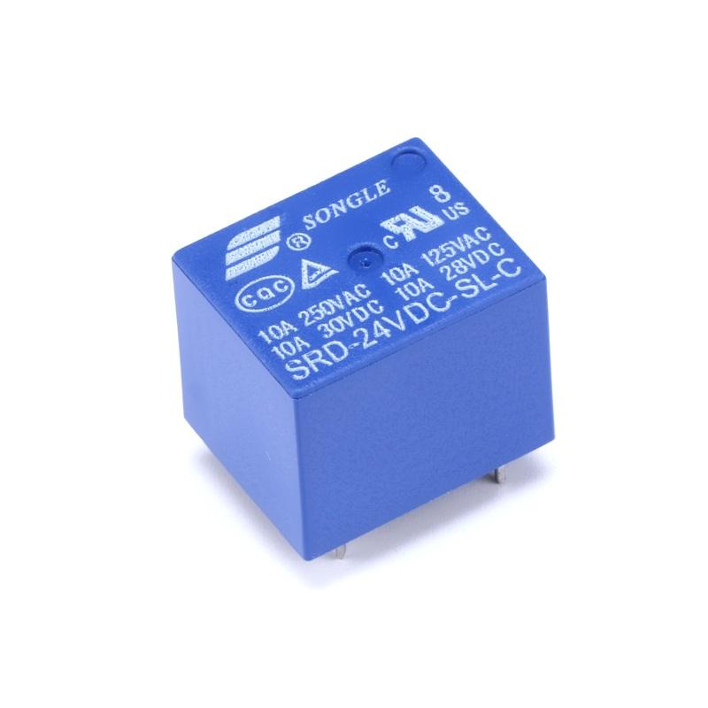 Реле Songle SRD-24VDC-SL-C электромеханическ ое  24В/250В