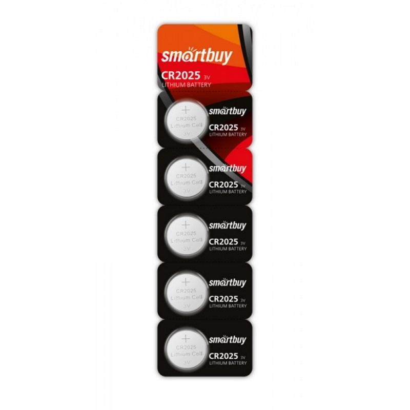 SMARTBUY Батарейки литиевые CR2025 SmartBuy 5 шт