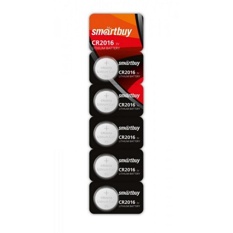 SMARTBUY Батарейки литиевые CR2016 SmartBuy 5 шт