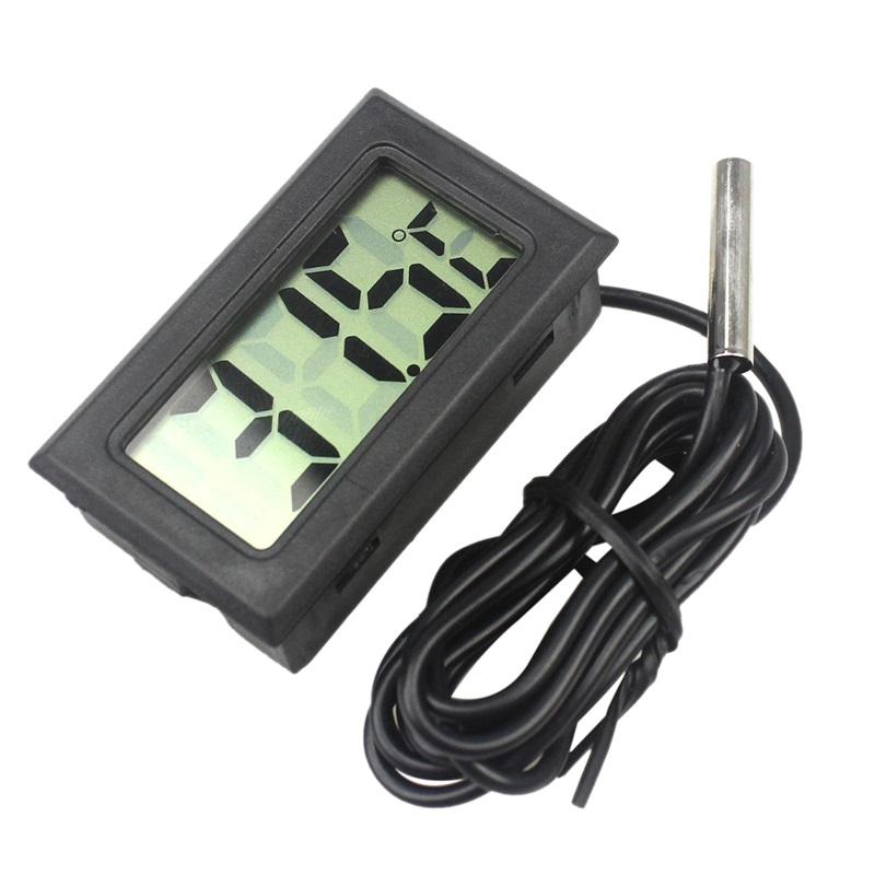 NTC Термометр цифровой Digital LCD T115 черный с выносным датчиком NTC