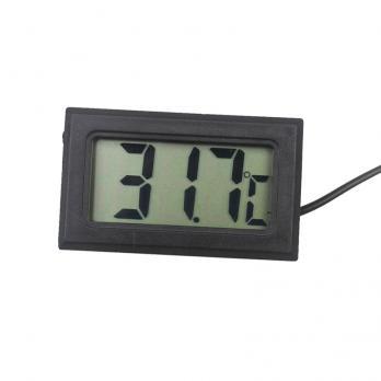 Термометр цифровой Digital LCD T115 черный с выносным датчиком TZT