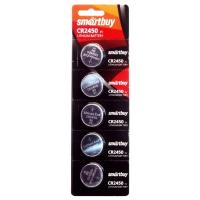 SMARTBUY Батарейки литиевые CR2450 SmartBuy 5 шт