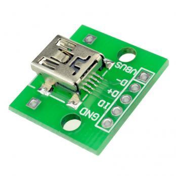 FEIYANG MiniUSB DIP адаптер МАМА (разъем на  плате) 5 PIN