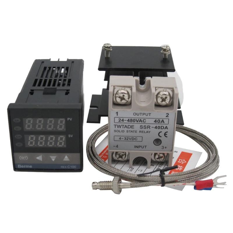 KETOTEK REX-C100 полный комплект (термореле, термопара, SSR-40DA, радиатор) KETOTEK