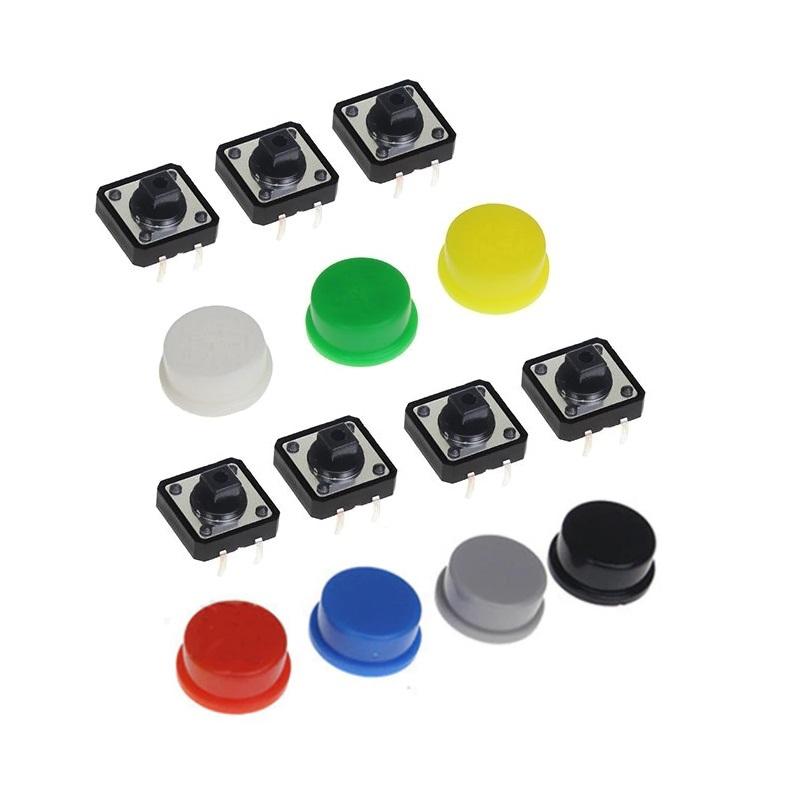 FEIYANG Набор кнопок 12x12 с колпачками (набор 7 штук)
