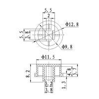 Набор кнопок 12x12 с колпачками (набор 7 штук) TZT