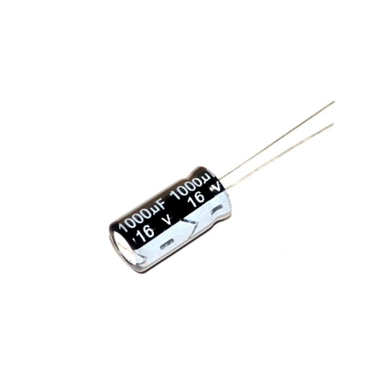 Конденсатор 1000 мкФ 16 В (электролитический)