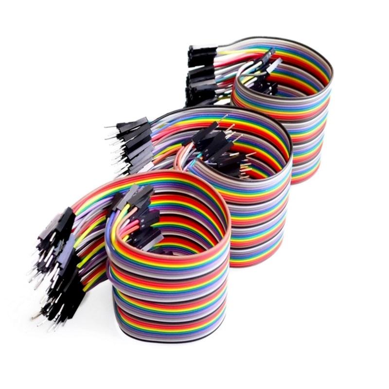 Провода Dupont трех видов 20 см, 60 шт