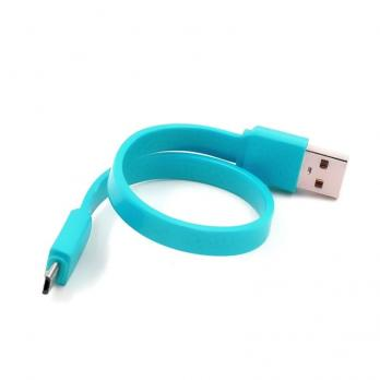 Кабель Micro USB короткий 20 см бирюзовый GREAT WALL