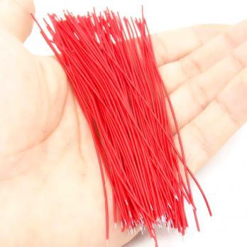 Проводки луженые 8 см красные (упак. 100 шт) TZT