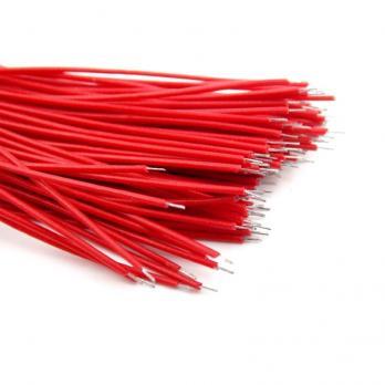 Проводки луженые 8 см красные (упак. 100 шт)