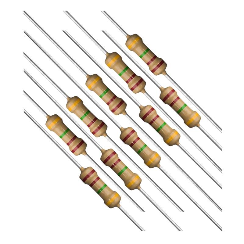 Резисторы 10 Ом 0.5 Вт (набор 10 шт)