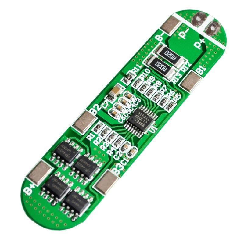 Балансировочная плата 4-х аккумуляторов 18650 (BMS-4S-14. 8V-16. 8V-10A) TZT