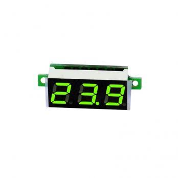 """Вольтметр DC 3-30V 0.28"""" зеленый"""
