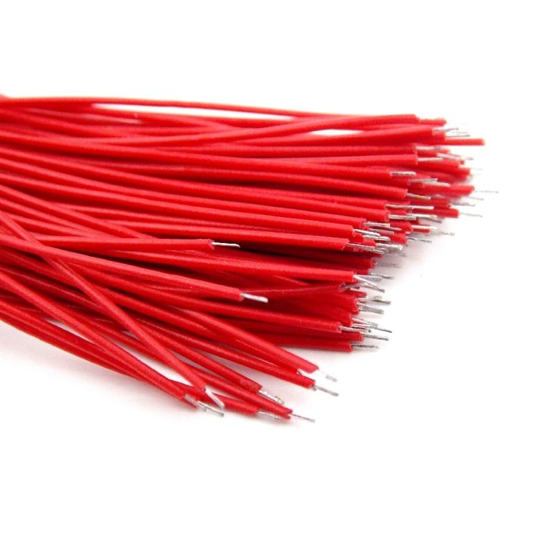 Проводки луженые 6 см красные (упак. 100 шт)