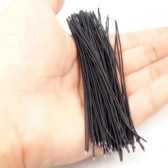 Проводки луженые 6 см черные (упак. 100 шт) TZT