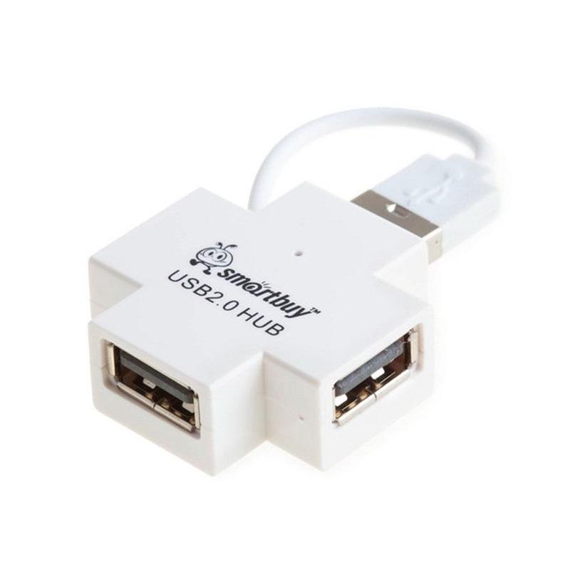 Разветвитель USB HUB 4-port SmartBuy SBHA-6900-W белый
