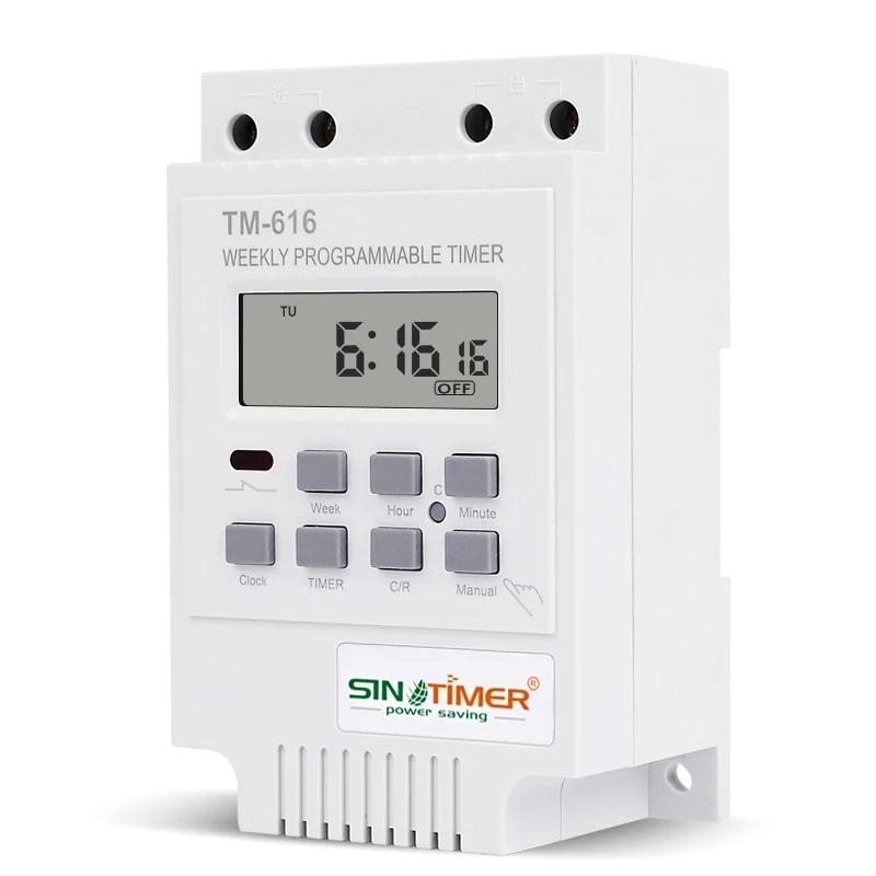 Sinotimer TM-616-2 реле времени на DIN рейку недельное 220В 30А
