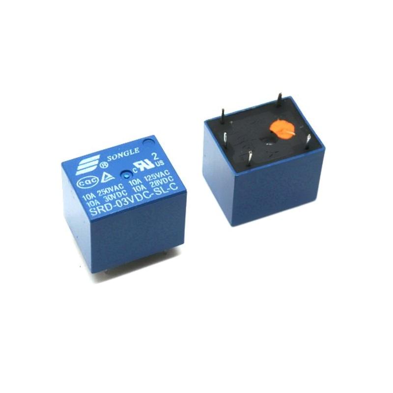 Реле Songle SRD-03VDC-SL-C электромеханическое 3В/250В