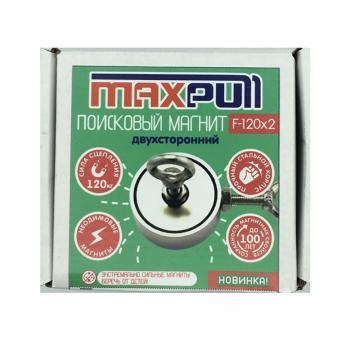 Двухсторонний поисковый неодимовый магнит F-120х2 MaxPull