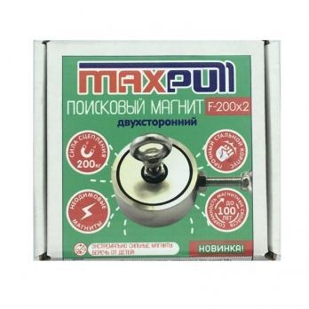 Двухсторонний поисковый неодимовый магнит F-200х2 MaxPull
