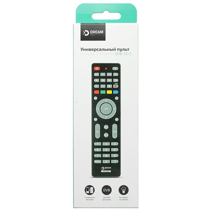 Пульт ДУ для TV приставок DVB-T2+3 универсальный DREAM