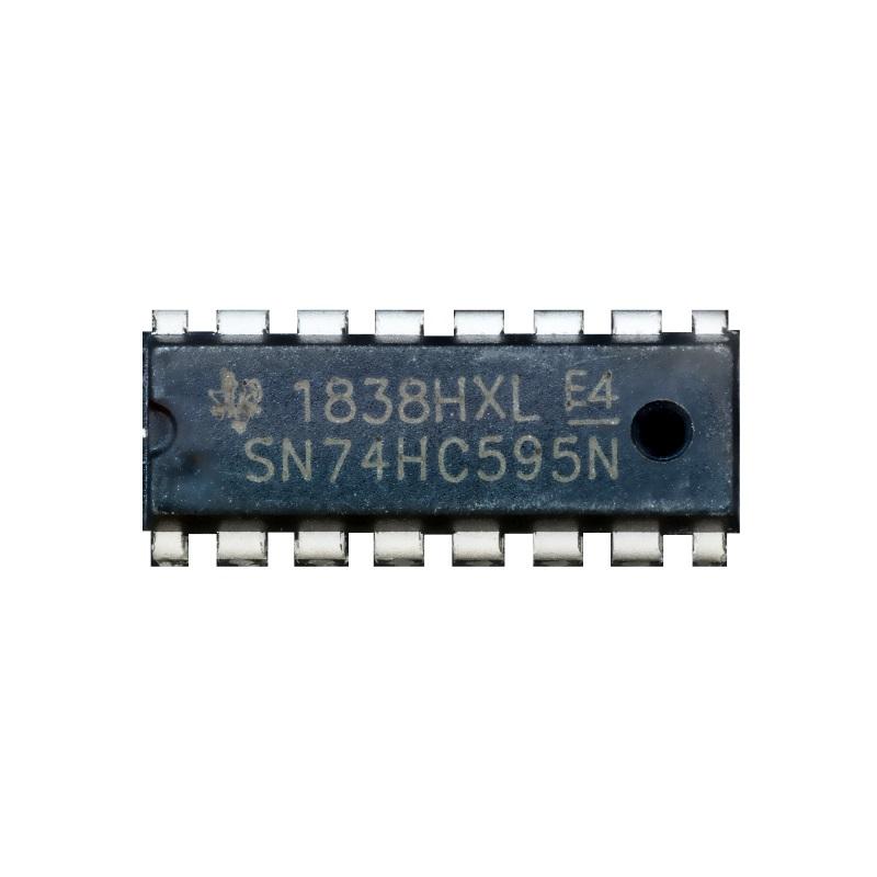 Микросхема 74HC595N (DIP16, сдвиговый регистр, SN74HC595N) MCIGICM