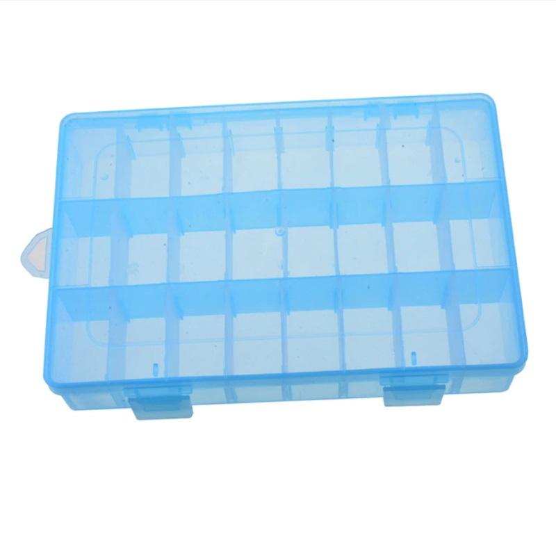 Пластиковая коробка для мелочей 15 ячеек (10х17.5х2.2 см) фиолетовая DEHI